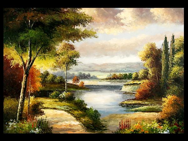 Romantique - lac - automne