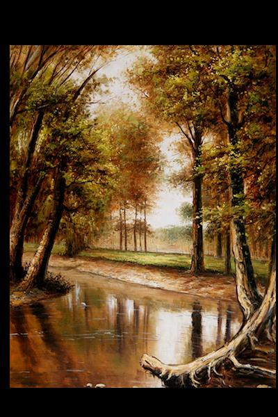 Arbres - ruisseau - automne